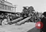 "Image of Military equipment being unloaded from ""Liberty Loan Train."" Richmond Virginia USA, 1918, second 5 stock footage video 65675048756"