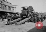 "Image of Military equipment being unloaded from ""Liberty Loan Train."" Richmond Virginia USA, 1918, second 6 stock footage video 65675048756"