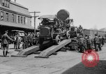 "Image of Military equipment being unloaded from ""Liberty Loan Train."" Richmond Virginia USA, 1918, second 8 stock footage video 65675048756"