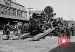 "Image of Military equipment being unloaded from ""Liberty Loan Train."" Richmond Virginia USA, 1918, second 9 stock footage video 65675048756"