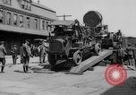 "Image of Military equipment being unloaded from ""Liberty Loan Train."" Richmond Virginia USA, 1918, second 11 stock footage video 65675048756"