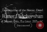 Image of Lieutenant Hunter J Wickersham United States USA, 1918, second 7 stock footage video 65675048782