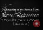 Image of Lieutenant Hunter J Wickersham United States USA, 1918, second 8 stock footage video 65675048782