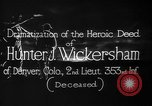 Image of Lieutenant Hunter J Wickersham United States USA, 1918, second 9 stock footage video 65675048782