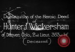 Image of Lieutenant Hunter J Wickersham United States USA, 1918, second 12 stock footage video 65675048782