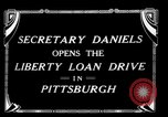 Image of Josephus Daniels Pittsburgh Pennsylvania USA, 1918, second 2 stock footage video 65675048792
