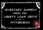 Image of Josephus Daniels Pittsburgh Pennsylvania USA, 1918, second 3 stock footage video 65675048792