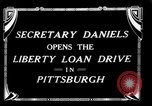 Image of Josephus Daniels Pittsburgh Pennsylvania USA, 1918, second 6 stock footage video 65675048792