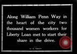 Image of Two Thousand women participate in Liberty Loan Drive Pittsburgh Pennsylvania USA, 1918, second 2 stock footage video 65675048793