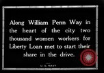 Image of Two Thousand women participate in Liberty Loan Drive Pittsburgh Pennsylvania USA, 1918, second 9 stock footage video 65675048793