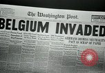 Image of German troops invade Belgium in World War I Belgium, 1914, second 6 stock footage video 65675048806