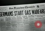 Image of gas warfare European Theater, 1918, second 6 stock footage video 65675048807