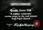 Image of Queen Anne Hill Seattle Washington USA, 1917, second 6 stock footage video 65675048835