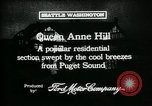 Image of Queen Anne Hill Seattle Washington USA, 1917, second 8 stock footage video 65675048835