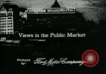 Image of Pike Place public market Seattle Washington USA, 1917, second 9 stock footage video 65675048838
