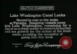 Image of Canal locks Seattle Washington USA, 1917, second 4 stock footage video 65675048842