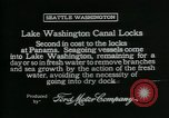 Image of Canal locks Seattle Washington USA, 1917, second 5 stock footage video 65675048842