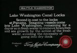 Image of Canal locks Seattle Washington USA, 1917, second 8 stock footage video 65675048842