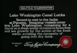 Image of Canal locks Seattle Washington USA, 1917, second 10 stock footage video 65675048842