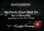 Image of Pacific Coast Steel Company Seattle Washington USA, 1917, second 1 stock footage video 65675048843