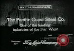 Image of Pacific Coast Steel Company Seattle Washington USA, 1917, second 2 stock footage video 65675048843
