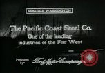 Image of Pacific Coast Steel Company Seattle Washington USA, 1917, second 6 stock footage video 65675048843