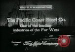 Image of Pacific Coast Steel Company Seattle Washington USA, 1917, second 11 stock footage video 65675048843
