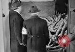 Image of German civilians tour Dachau concentration camp after its liberation Bavaria Germany, 1945, second 3 stock footage video 65675049039