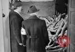 Image of German civilians tour Dachau concentration camp after its liberation Bavaria Germany, 1945, second 10 stock footage video 65675049039