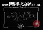 Image of weather forecasting United States USA, 1925, second 8 stock footage video 65675049043