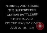 Image of German battleship Ostfriesland Virginia Capes United States USA, 1935, second 1 stock footage video 65675049050