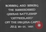 Image of German battleship Ostfriesland Virginia Capes United States USA, 1935, second 7 stock footage video 65675049050