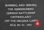 Image of German battleship Ostfriesland Virginia Capes United States USA, 1935, second 8 stock footage video 65675049050
