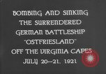Image of German battleship Ostfriesland Virginia Capes United States USA, 1935, second 9 stock footage video 65675049050