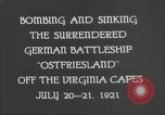 Image of German battleship Ostfriesland Virginia Capes United States USA, 1935, second 10 stock footage video 65675049050