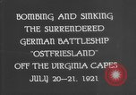 Image of German battleship Ostfriesland Virginia Capes United States USA, 1935, second 12 stock footage video 65675049050