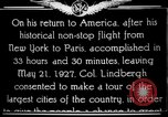 Image of Charles Lindbergh Chicago Illinois USA, 1927, second 2 stock footage video 65675049065