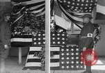 Image of casket wrapped in American flag France, 1918, second 4 stock footage video 65675049096