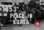 Image of Korean War armistice signing Panmunjom Korea, 1953, second 1 stock footage video 65675049154