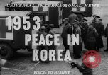 Image of Korean War armistice signing Panmunjom Korea, 1953, second 2 stock footage video 65675049154