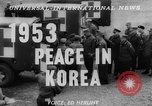 Image of Korean War armistice signing Panmunjom Korea, 1953, second 3 stock footage video 65675049154