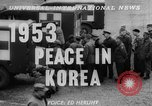 Image of Korean War armistice signing Panmunjom Korea, 1953, second 4 stock footage video 65675049154