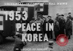Image of Korean War armistice signing Panmunjom Korea, 1953, second 5 stock footage video 65675049154