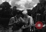 Image of Navy diver entering water United States USA, 1943, second 4 stock footage video 65675049206