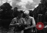 Image of Navy diver entering water United States USA, 1943, second 5 stock footage video 65675049206