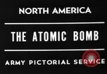 Image of First Atomic bomb Alamogordo New Mexico USA, 1945, second 3 stock footage video 65675049279