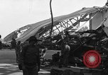 Image of sea plane hangar Cherbourg Normandy France, 1944, second 2 stock footage video 65675049314