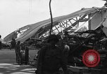 Image of sea plane hangar Cherbourg Normandy France, 1944, second 3 stock footage video 65675049314