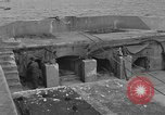 Image of seawall Cherbourg Normandy France, 1944, second 13 stock footage video 65675049315