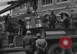Image of wooden crates Cherbourg Normandy France, 1944, second 9 stock footage video 65675049320